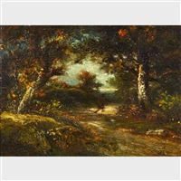 woodland scenery by jules dupré