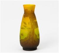 vase mit auenlandschaft by arsall (vereinigte lausitzer glaswerke)