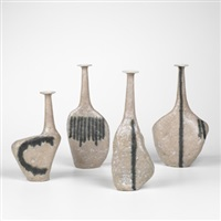 sassi vases (set of 4) by guido and bruno gambone