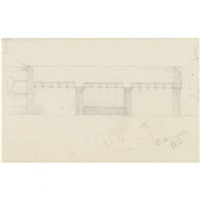 sketch for the boston public library addition (the johnson building) by philip cortelyou johnson