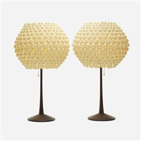 lantern series table lamps (pair) by george nelson & associates