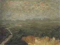 herbstmorgen im moor by gustav a.h. rau