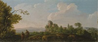 paesaggio laziale con viandanti by carlo labruzzi