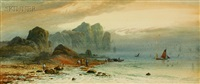 fishermen at low tide by e. nevil