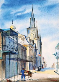 st. louis cathedral, chartres st. by charles henry reinike