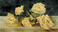 rose still life by maud tindal atkinson