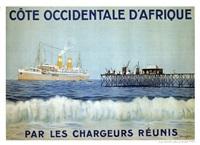 chargeurs réunis - côte occidentale d'afrique by sandy (georges taboureau) hook