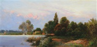 evening on the thames by walter h. goldsmith
