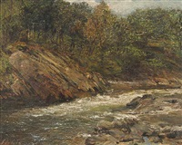 untitled (summer stream) by george ogilvy reid