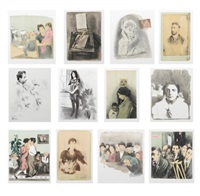 memories (portfolio of 12) by raphael soyer