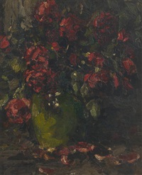 vase fleuri by hermann courtens