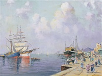 figure nel porto by nicolo de corsi