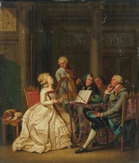 a music lesson by johann eleazar schenau