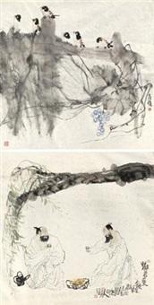 好鸟枝头 劝君更饮一杯酒 (2 works) by deng jiade