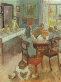 Interior med legende born, 1912–1912