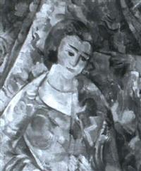 Kvinna i rosa kl,nning by Jules Schyl on artnet