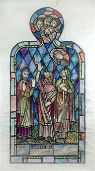 stained glass design for dundee by thomas symington halliday