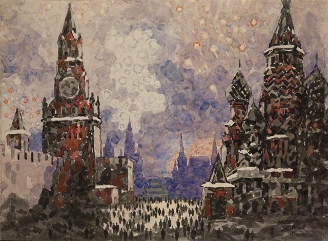 fireworks on victory day by mikhail bobyshev