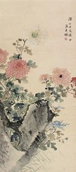 花卉 立轴 设色纸本 by wen qiqiu