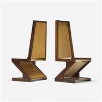 diamond chairs (pair) by don shoemaker