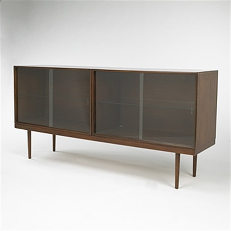 cabinets and bench from the organic design competition by eero saarinen and charles eames