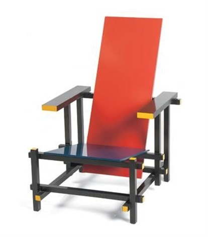 the red blue chair by gerrit thomas rietveld