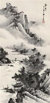 溪山烟雨 by qi dashou