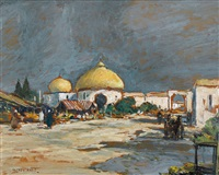market square, morocca by sir alfred east