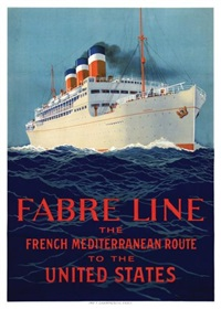 fabre line - the méditerranéan route to the united states by sandy (georges taboureau) hook