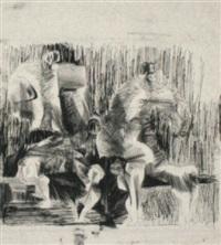 figurengruppe im gespräch by hubertus von pilgrim