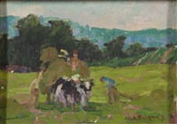haying scene by henry ryan macginnis