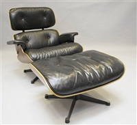 lounge chair mit ottomane (set of 2) by charles eames