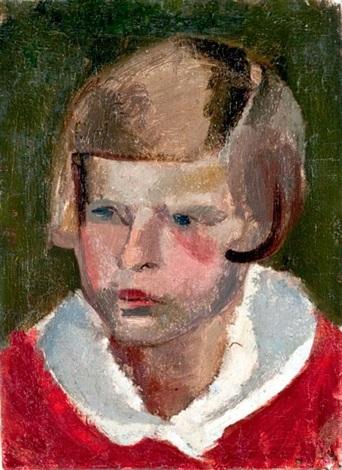 kislányportré b e portréja by vilmos aba novák