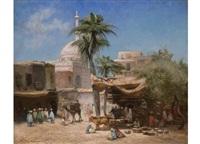 orientalische marktstrasse by godefroy de hagemann