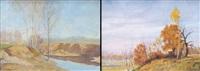 paesaggio autunnale (+ paesaggio; 2 works) by jean torri