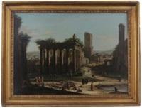 veduta del foro romano by jacopo fabris