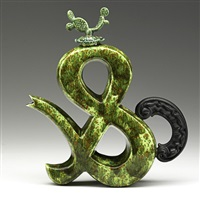 ampersand teapot with cactus lid by adrian saxe