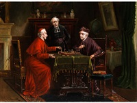 drei geistliche beim schachspiel by k. vollmark
