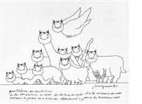 quatrième de couverture de l'édition originale du chat ( from du retour du chat et de la vengeance du chat) by philippe geluck