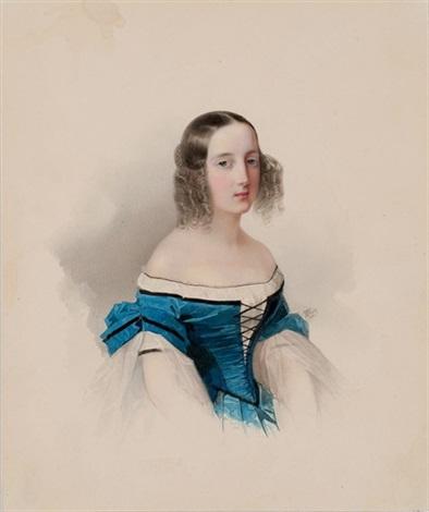 portrait of grand duchess maria nikolaievna by vladimir ivanovich hau