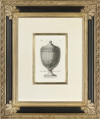 studies of urns and vases by carlo antonini