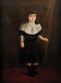 portrait de petite fille à l'ombrelle by corchon