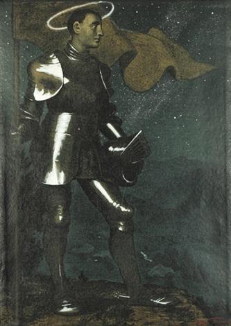 der talhüter ii ritter und nymphe 1911 drypoint wtone smllr 2 works by hans thoma
