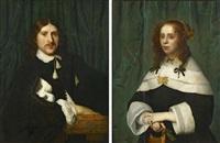 zwei gemälde: porträt eines vornehmen paares by isaac luttichuys