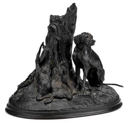 chien gardant du gibier by pierre jules mêne