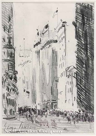 liberty parade new york city 1918 by george benjamin luks