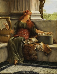 sapho by sir lawrence alma-tadema