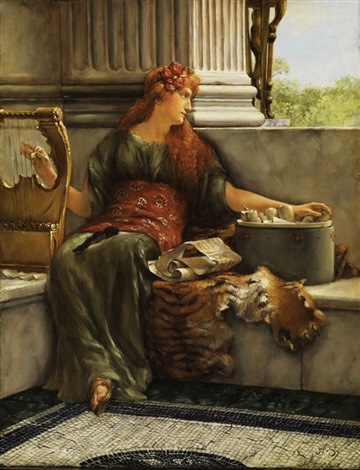 sapho by sir lawrence alma tadema