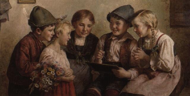 kindergruppe by edmund adler