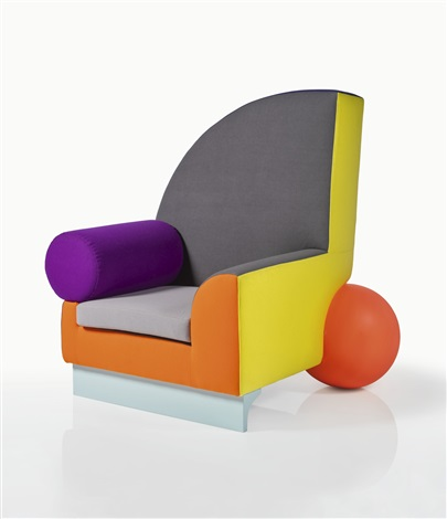 Bel air armchair by peter shire on artnet for Air chair stuhl